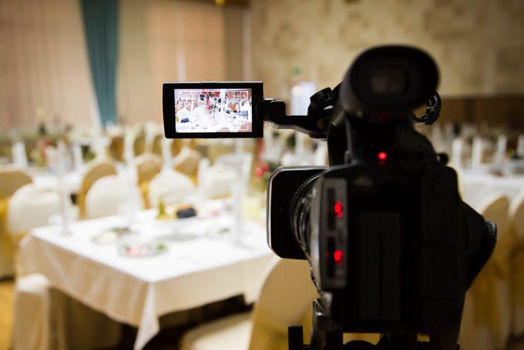 Video camera on wedding day